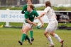 Amy Davis suffered a frustrating afternoon in attack for Ireland women...