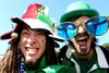 Italy and Ireland supporters soak up the atmosphere before kick-off