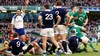 Heaslip celebrates after bundling over for Ireland's second try