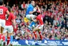 While the match remained even in the first half, Halfpenny kicked Wales into a 9-3 lead at half-time