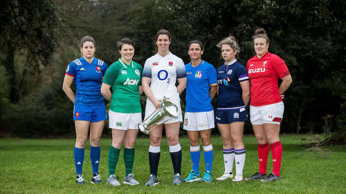 2018 Women's Six Nations captains at the launch