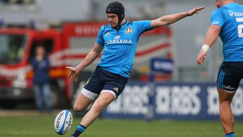 Italy battle to first win under O'Shea