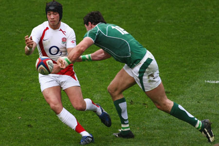 Danny Cipriani and Shane Horgan