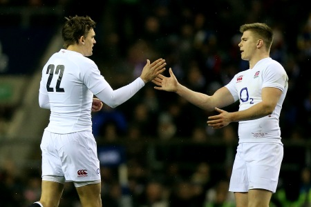 Toby Flood and Owen Farrell