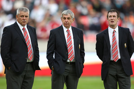 Warren Gatland, Ian McGeechan and Rob Howley