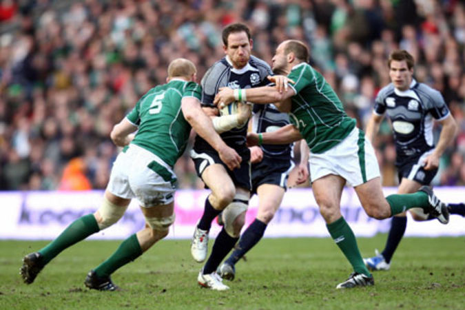 Paul O'Connell, Graeme Morrison & Rory Best