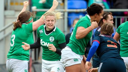 Lyons try helps Ireland to third win.
