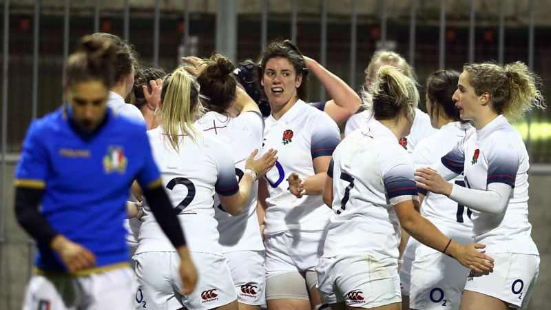 Hunter hat trick helps england women to opening win - Rugby six nations results table ...
