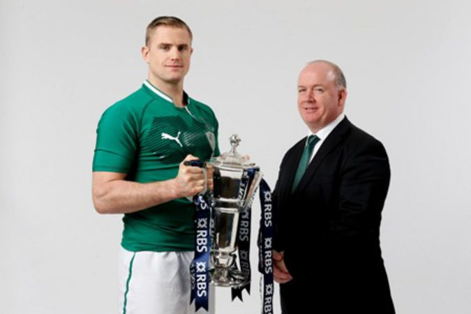 Jamie Heaslip and Declan Kidney