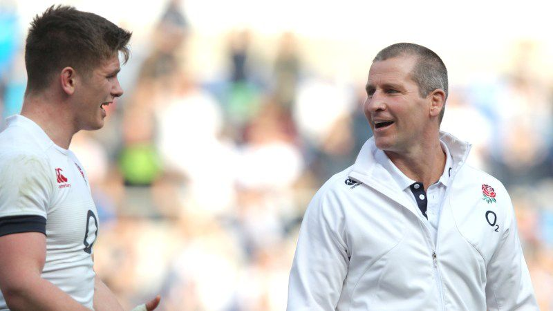 Owen Farrell and Stuart Lancaster