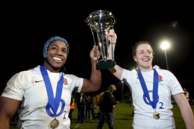 Maggie Alphonsi and Katy McLean