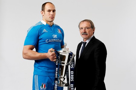 Sergio Parisse and Jacques Brunel