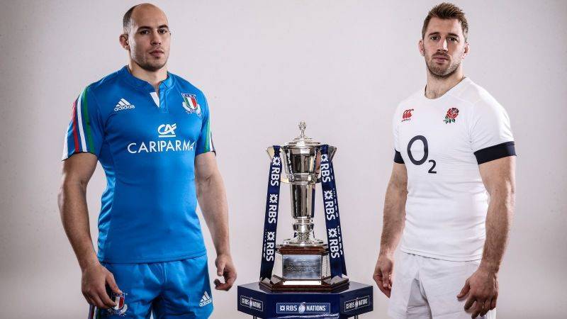 Sergio Parisse and Chris Robshaw