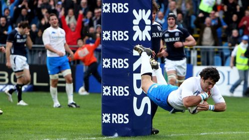 Classic Match: Canavosio try pushes Italy past Scotland in 2010