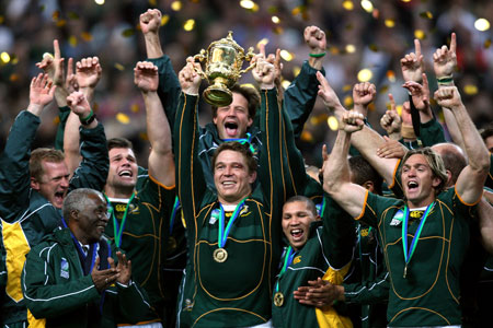 South Africa, 2007 World Cup final. Press Association Images