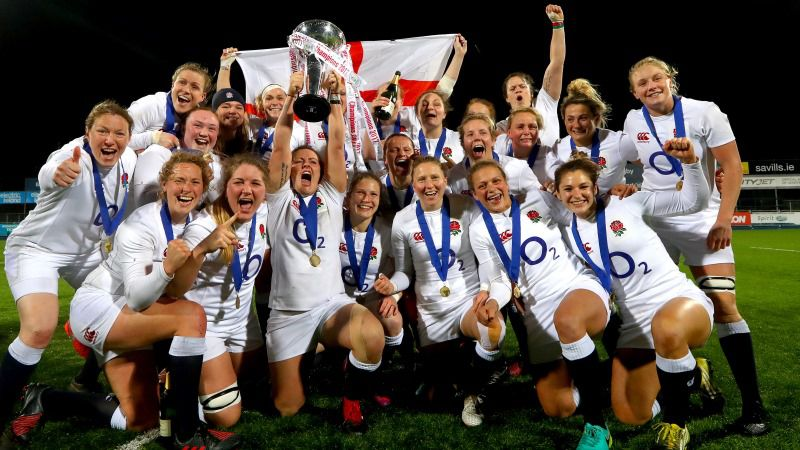 England won the Women's Six Nations earlier this year