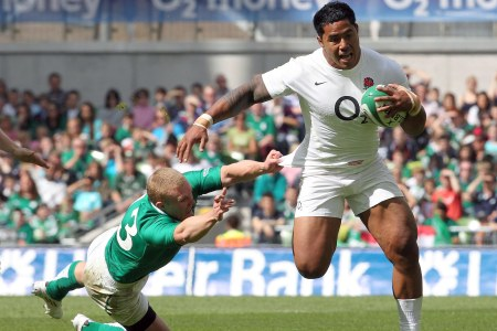 Manu Tuilagi and Keith Earls