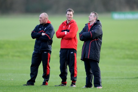 Robin McBryde, Mark Jones and Rob Howley