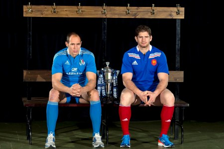 Sergio Parisse and Pascal Papé
