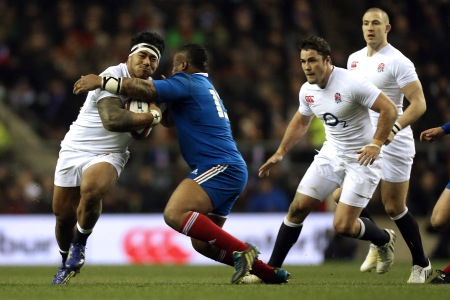 Manu Tuilagi and Mathieu Bastareaud